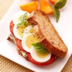 Protein-Packed Breakfast Sandwich - 240 High Protein Recipes - RecipePin.com