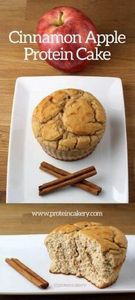 Cinnamon Apple Protein Cake - low  - 240 High Protein Recipes - RecipePin.com
