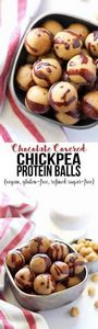 These Chocolate Covered Chickpea P - 240 High Protein Recipes - RecipePin.com
