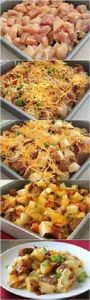 Loaded Baked Potato Chicken Casser - 240 High Protein Recipes - RecipePin.com