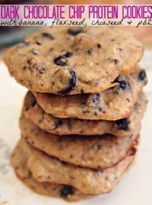 Dark Chocolate Chip Protein Cookie - 240 High Protein Recipes - RecipePin.com