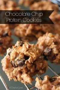 Chocolate Chip Protein Cookies Rec - 240 High Protein Recipes - RecipePin.com