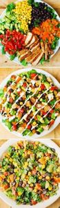 Southwestern Chopped Salad (chicke - 240 High Protein Recipes - RecipePin.com