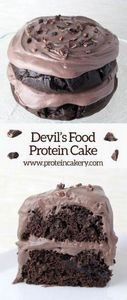 Devil's Food Protein Cake - low ca - 240 High Protein Recipes - RecipePin.com