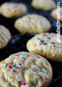 Birthday Cake Protein Cookies - OP - 240 High Protein Recipes - RecipePin.com