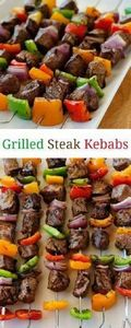 These steak kebabs are amazing! Pa - 240 High Protein Recipes - RecipePin.com