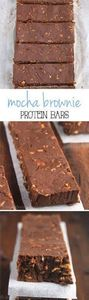 Mocha Brownie Protein Bars -- they - 240 High Protein Recipes - RecipePin.com