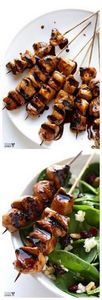 Easy Balsamic Chicken Skewers -- a - 240 High Protein Recipes - RecipePin.com