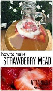 In its simplest form, mead is a fe honey wine. Here's how to make a strawberry mead (or melomel) that's easy enough for beginners like me! - 300 Homebrewing Recipes to Brew at Home - RecipePin.com