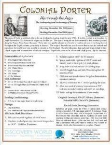 Colonial Porter Recipe - 300 Homebrewing Recipes to Brew at Home - RecipePin.com