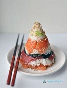 Cone Sushi - I would eat the heck  - 235 Japanese Recipes - RecipePin.com