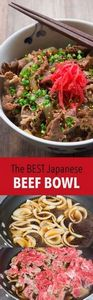 This Yoshinoya-style Gyudon , comes together in 15 minutes and tastes delicious over a bowl steaming hot rice  - 235 Japanese Recipes - RecipePin.com