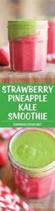 Strawberry Pineapple Kale Smoothie - 160 Kale Recipes - RecipePin.com