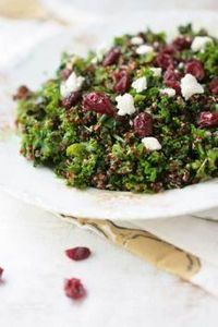 Kale and Quinoa Salad with Dried C - 160 Kale Recipes - RecipePin.com