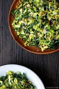 Kale and Brussels Sprout Salad - 160 Kale Recipes - RecipePin.com