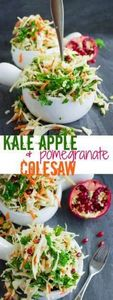 Coleslaw with Kale Apple Pomegrana - 160 Kale Recipes - RecipePin.com