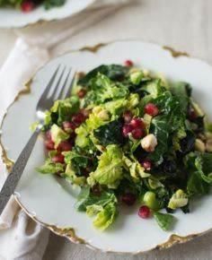 Brussels Sprout Kale Salad - 160 Kale Recipes - RecipePin.com