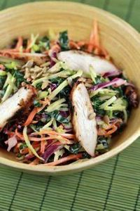Broccoli Slaw and Kale Salad with - 160 Kale Recipes - RecipePin.com