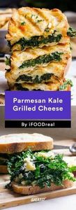 5. Parmesan Kale Grilled Cheese #h - 160 Kale Recipes - RecipePin.com