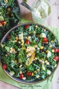 Chopped Mexican Kale Salad with Cr - 160 Kale Recipes - RecipePin.com