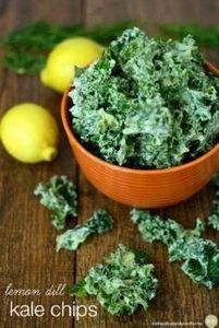 Lemon Dill Kale Chips...made with - 160 Kale Recipes - RecipePin.com