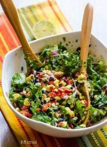 healthy mexican salad with kale - 160 Kale Recipes - RecipePin.com