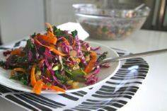 Kale coleslaw, with cabbage and ca - 160 Kale Recipes - RecipePin.com