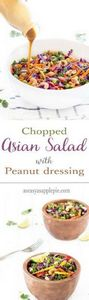 This chopped asian salad with pean - 160 Kale Recipes - RecipePin.com