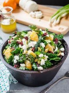 Kale Salad with Goat Cheese, Cranb - 160 Kale Recipes - RecipePin.com