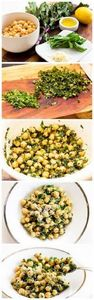 Ingredients: 1 can chickpeas, rins - 160 Kale Recipes - RecipePin.com