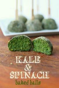 Baked Spinach and Kale balls: that - 160 Kale Recipes - RecipePin.com