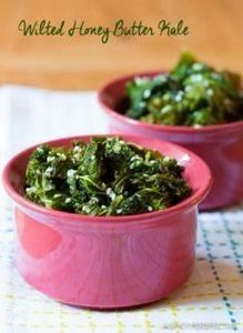 Southern Wilted Honey Butter Kale - 160 Kale Recipes - RecipePin.com