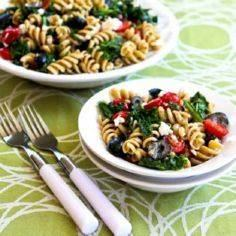 Whole Wheat Pasta Salad with Fried - 160 Kale Recipes - RecipePin.com