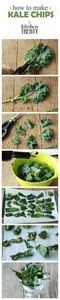 How to Make Kale Chips - Salty, cr - 160 Kale Recipes - RecipePin.com