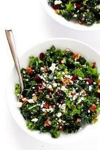 This Kale Salad with Bacon and Blu - 160 Kale Recipes - RecipePin.com
