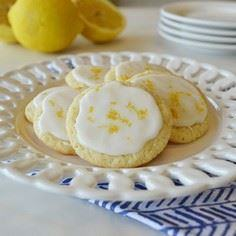 Frosted Lemon Cookies Recipe from  - 250 Lemon Recipes - RecipePin.com