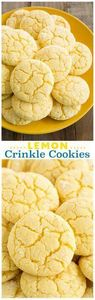 Lemon Crinkle Cookies - these are  - 250 Lemon Recipes - RecipePin.com