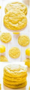 Soft and Chewy Lemon Cookies - 250 Lemon Recipes - RecipePin.com