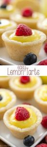These Easy Lemon Tarts have only 3 - 250 Lemon Recipes - RecipePin.com