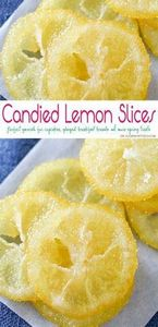 Beautiful Candied Lemon Slices are - 250 Lemon Recipes - RecipePin.com