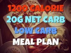 1200 Calorie 20g Net Carb One Week - 300 Low Carb Recipes - RecipePin.com