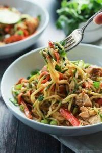 Zoodles are the star in this easy  - 300 Low Carb Recipes - RecipePin.com