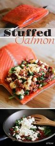 Stuff salmon with feta, sundried t - 300 Low Carb Recipes - RecipePin.com
