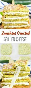 Zucchini Crusted Grilled Cheese Sa - 300 Low Carb Recipes - RecipePin.com