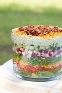 YUMMY fresh 7 layered salad!! Grea - 300 Low Carb Recipes - RecipePin.com