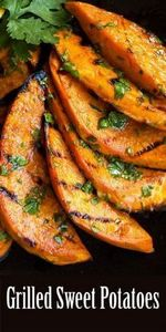 Grilled sweet potatoes! Slices of  - 300 Low Carb Recipes - RecipePin.com