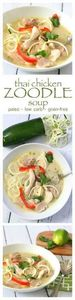 Thai Chicken Zoodle [Zucchini Nood - 300 Low Carb Recipes - RecipePin.com