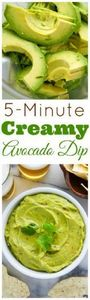 Creamy Avocado Dip ready in just 5 - 300 Low Carb Recipes - RecipePin.com
