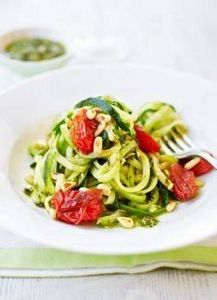 Courgetti with pesto and balsamic  - 300 Low Carb Recipes - RecipePin.com