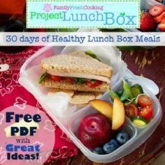 FREE! Project Lunch Box: 30 Days o - 85 Lunch Box And Snack Ideas - RecipePin.com